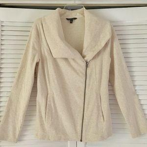 Asymmetrical MOTO Jacket Sweater Top